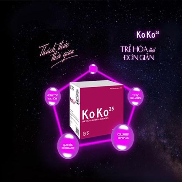 Koko25 hỗ trợ trị tóc bạc sớm