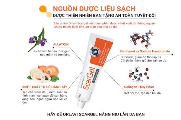 Kem trị sẹo rỗ Orlavi Scargel nguồn gốc từ thiên nhiên rất an toàn và hiệu quả