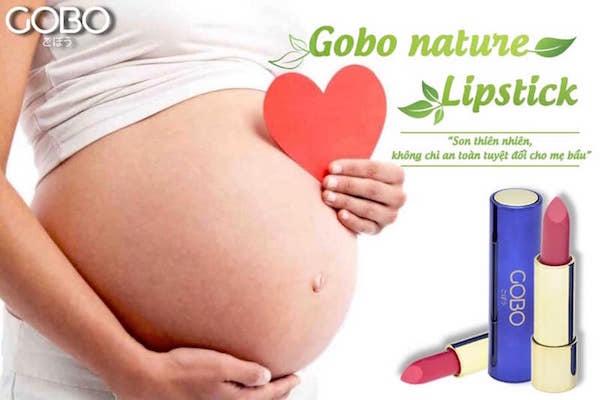 Son màu đỏ hồng GOBO rất an toàn cho sức khoẻ