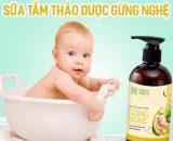 Chọn sữa tắm cho bé thành phần thiên nhiên